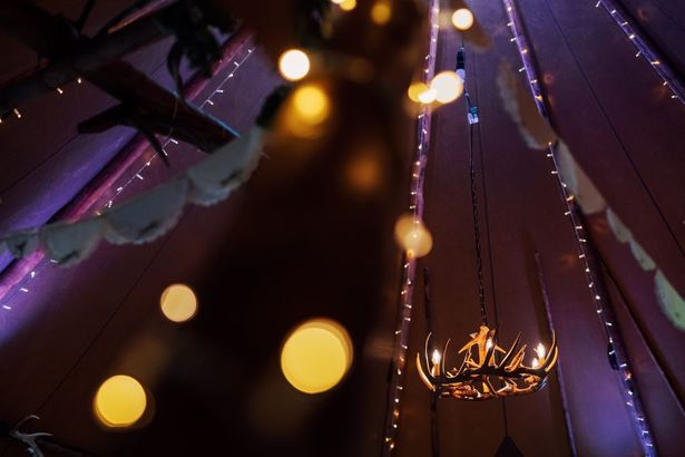 Fairy Lights in Tipi Venue