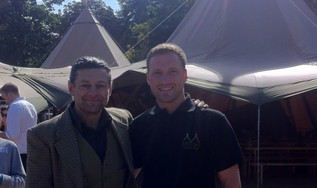Andy Serkis with David Lowe of Special Event Tipis