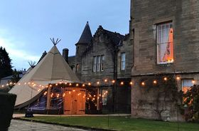 Tipi Venue Hire - Outdoor With Fairylights